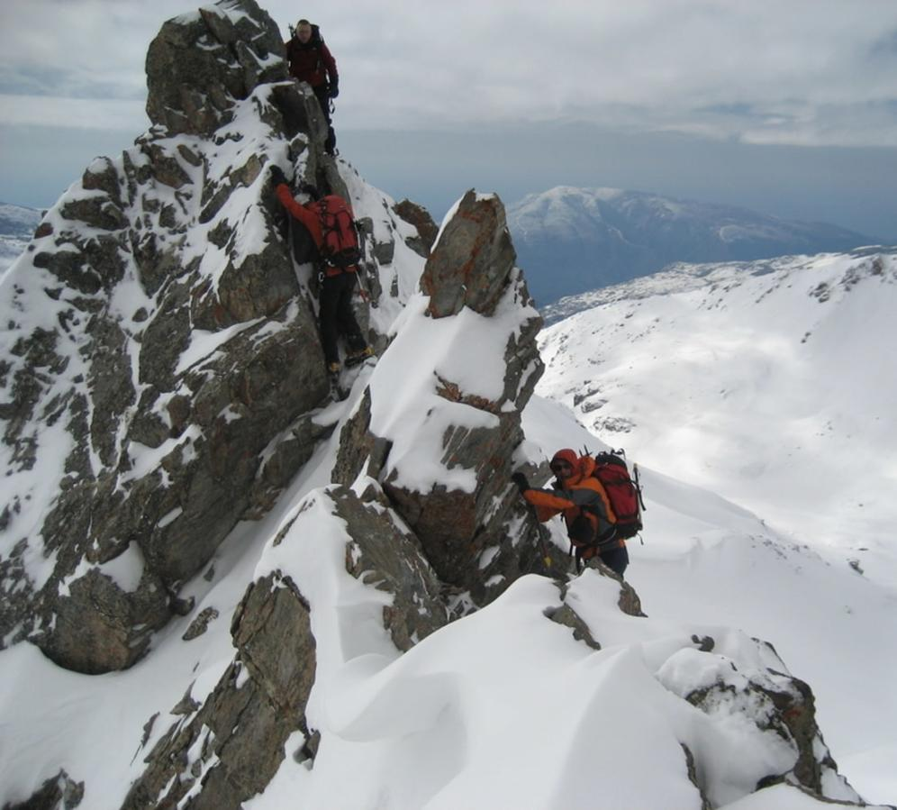 The ridges of the Sierra Nevada are alpine, especially in the winter