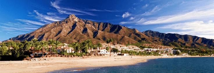 La Concha from Marbella
