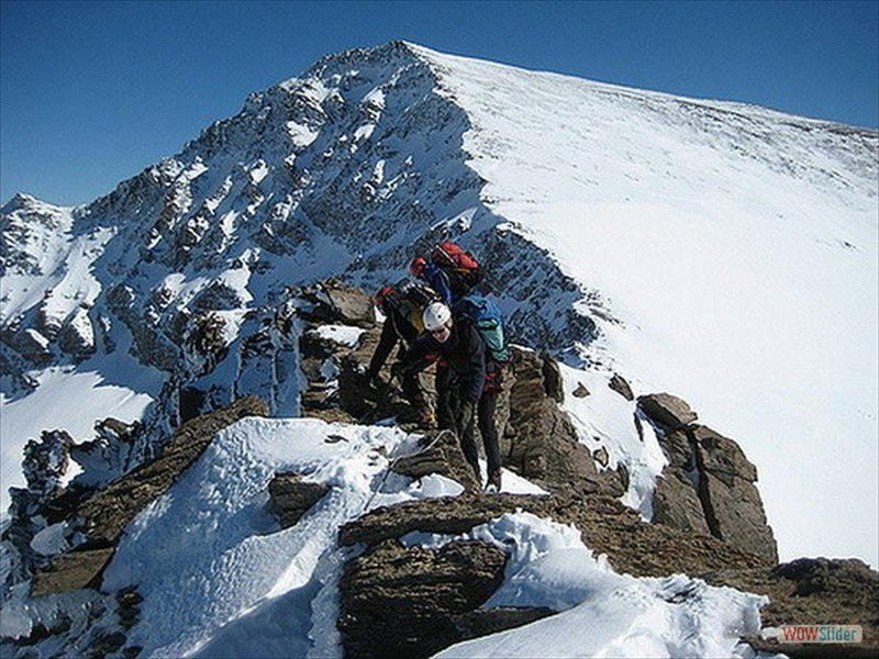 Winter Mountaineering, Sierra Nevada Slide 1