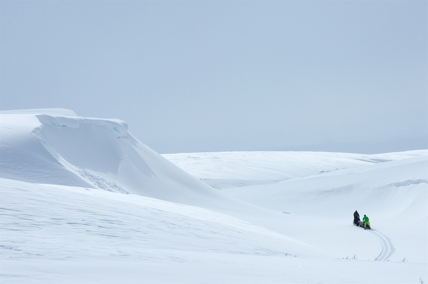A beautiful day for a snowmobile ride. Photo courtesy of Martin Hartley