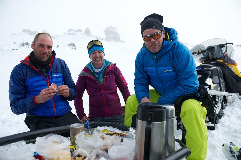 Warwick, me and Richard having lunch