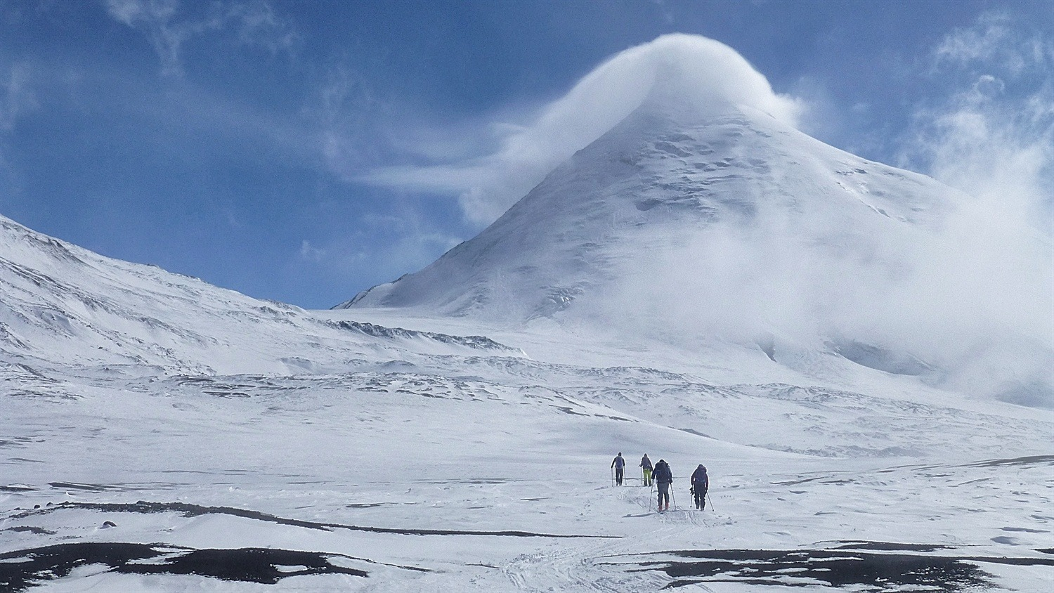 Walking now and very close to base camp