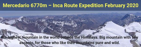 Climb Mercedario 6770m, Argentina, Central Andes