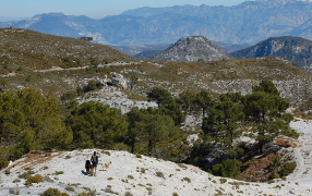 Walking in the Lecrin valley near Granada