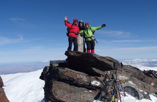 Summit Mulhacen in Winter
