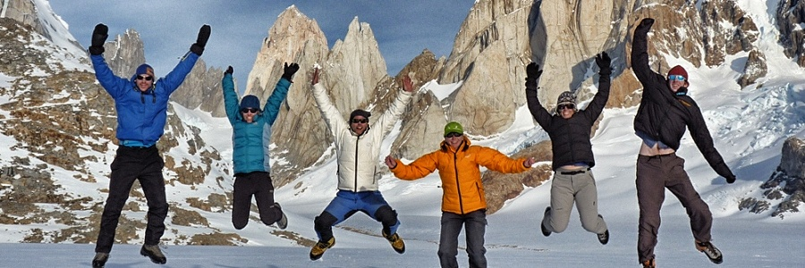 Expeditions! A group on the remote west side of Cerro Torre, Patagonia
