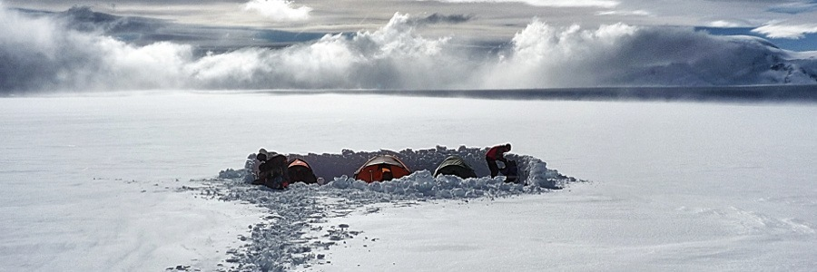 Camp on the Patagonian Icecap