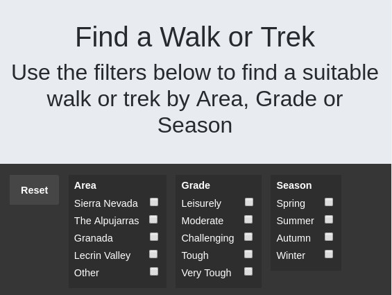 Walk and Trek Finder