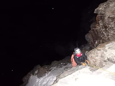 Climbing in the dark 2
