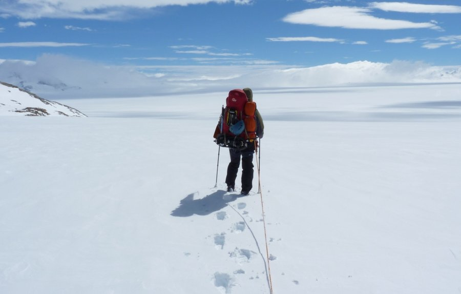 Entering the icecap for the first time