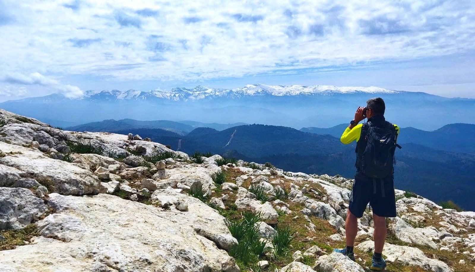 Views south to the Sierra Nevada
