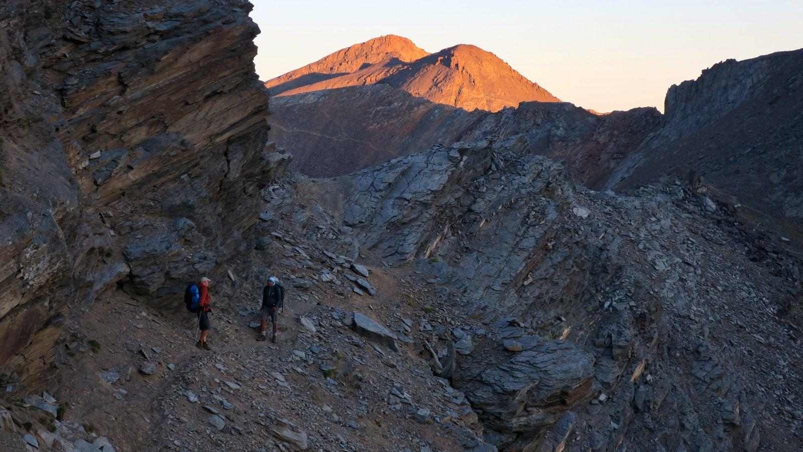 Morning light on Veleta and Cerro de los Machos