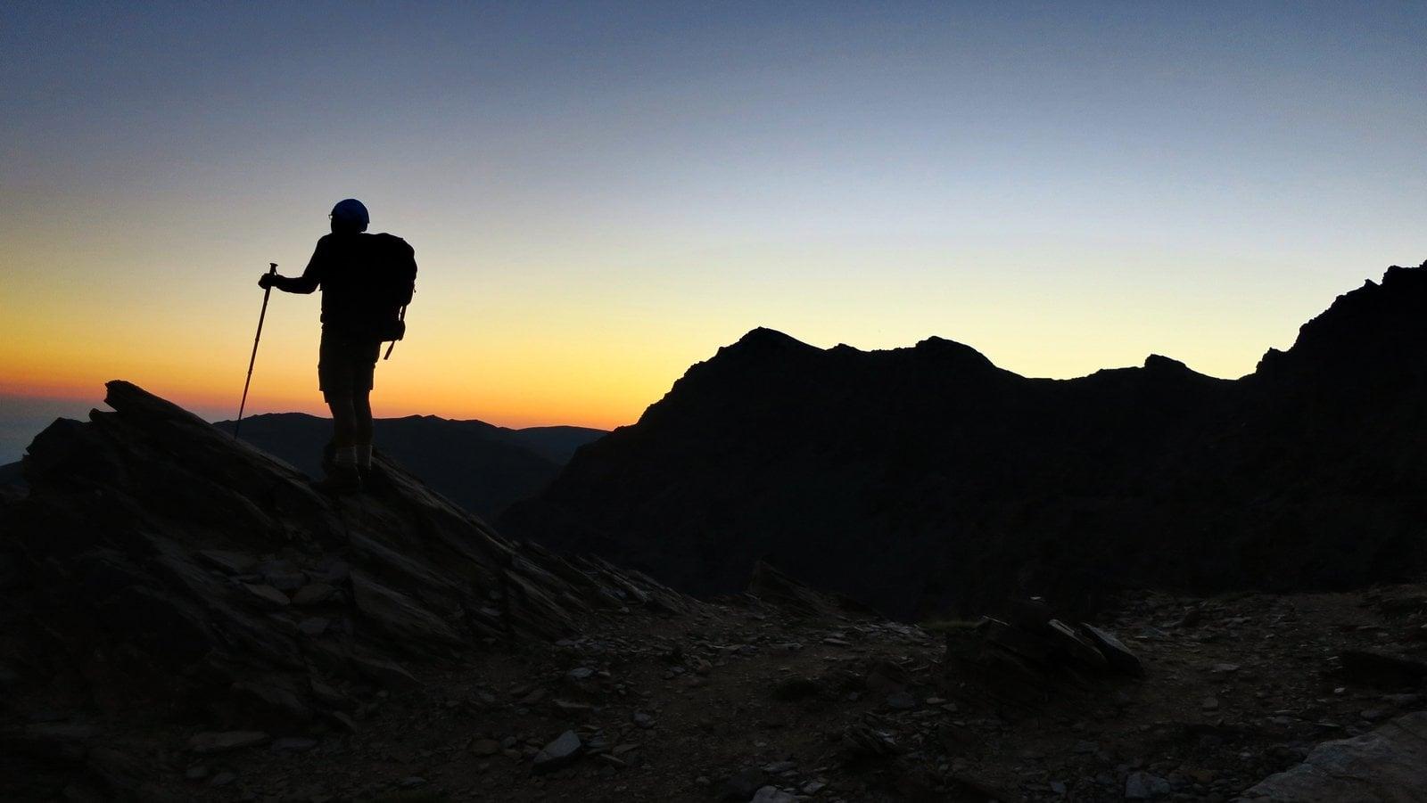 Silhouette near the Collado del Ciervo