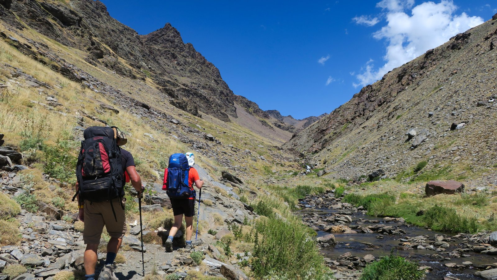 Entering the spectacular upper Lanjaron Valley