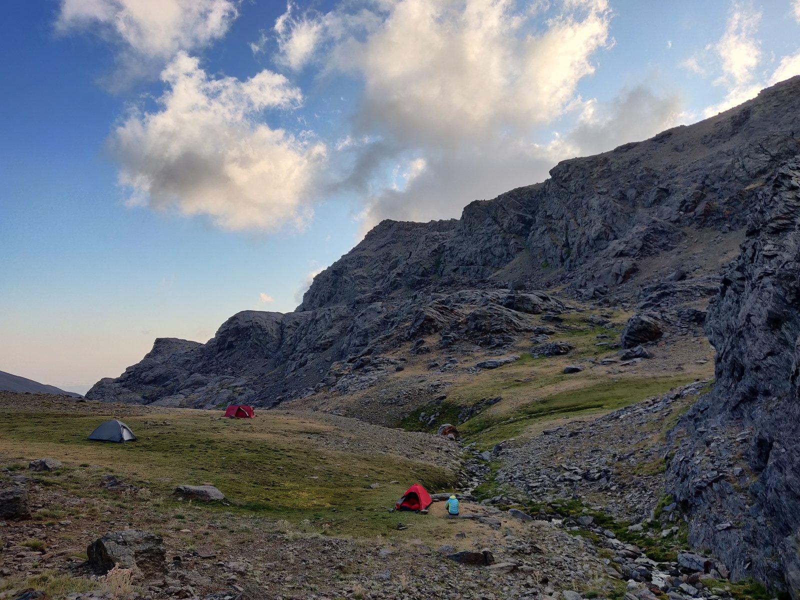 Overnight camping spot