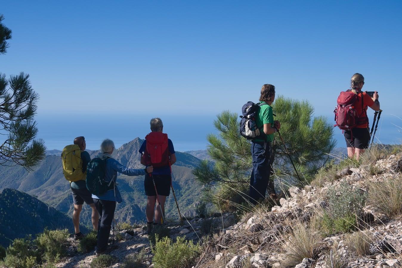 Above the Puerto de Frigiliana to the Sea