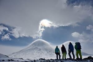 Mountain Kamchatka summit