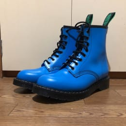 SOLOVAIR Neon Blue 8 Eye Derby Boot