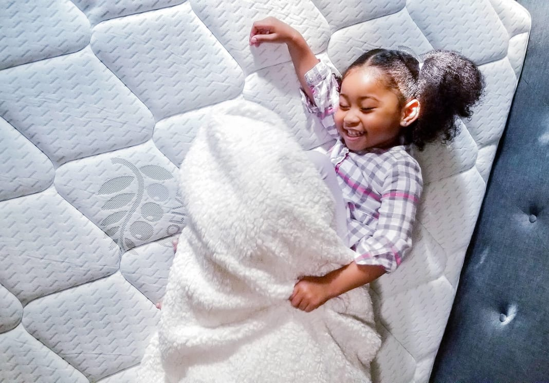 Child on mattress