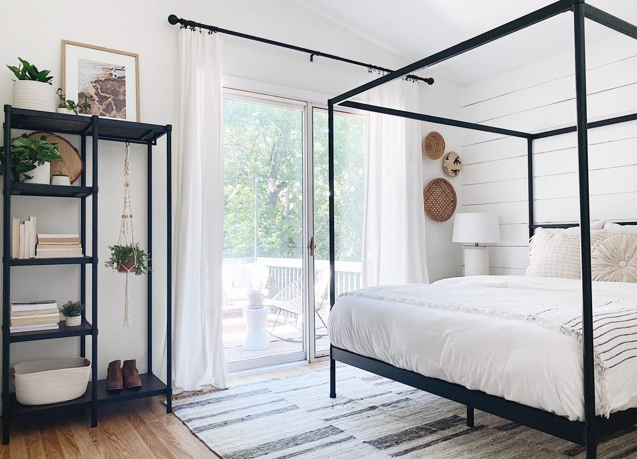 wesley etagere in bedroom
