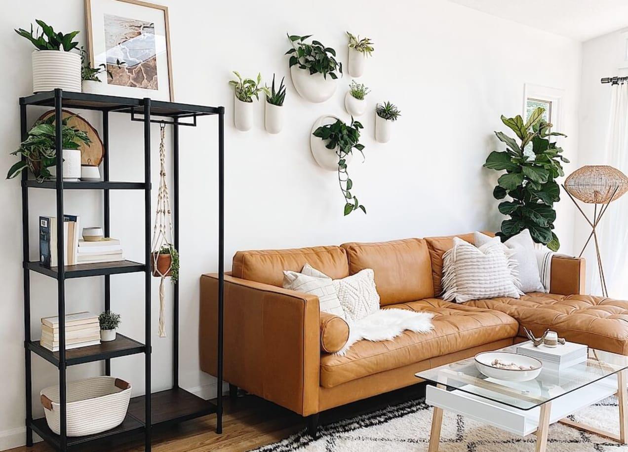 wesley etagere in living room