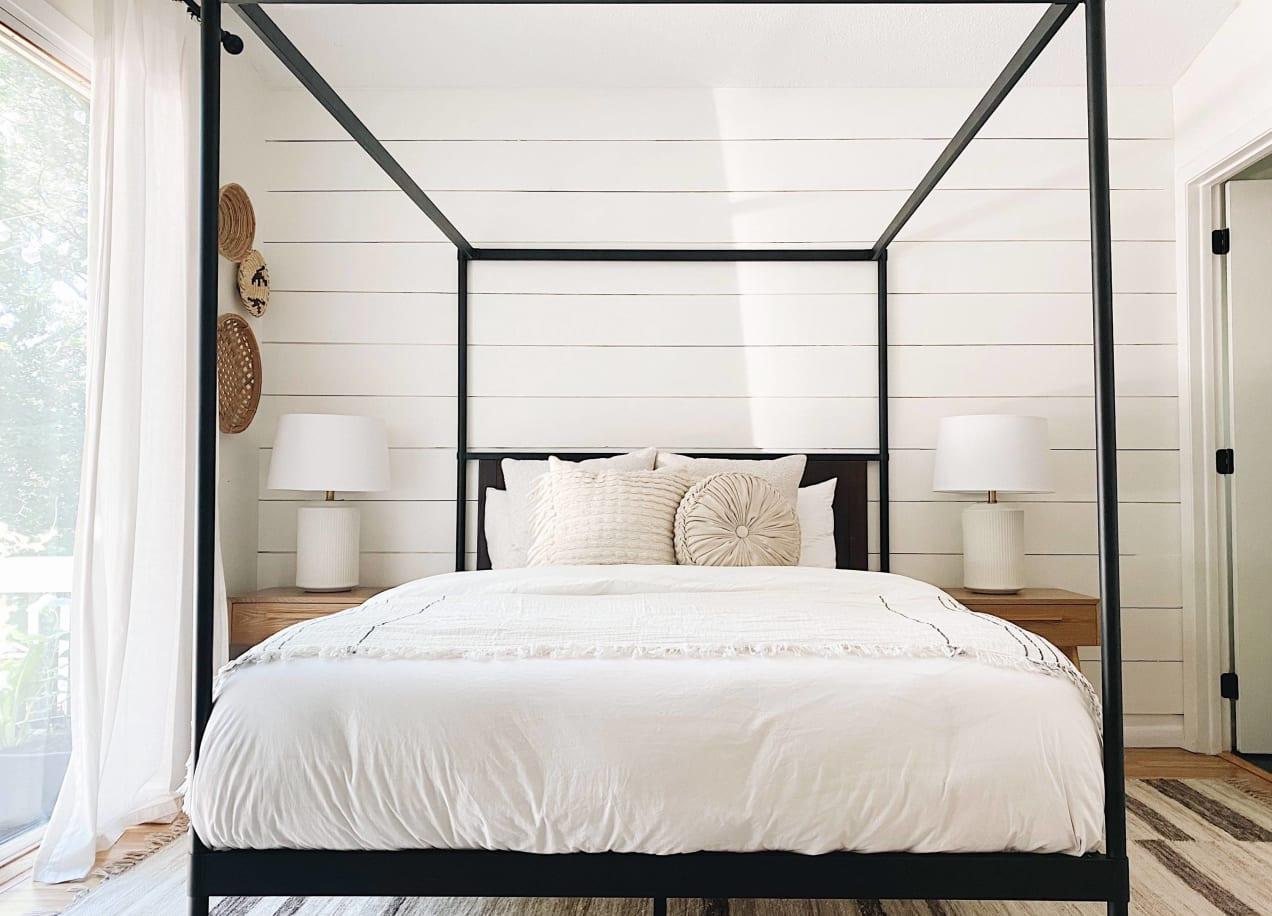 wesley canopy platform bed