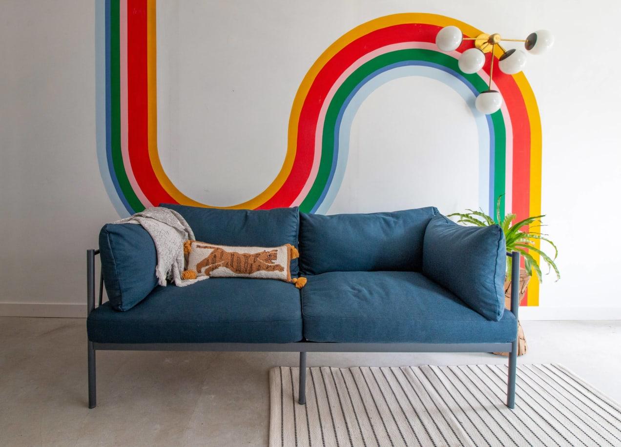 amanda metal sofa