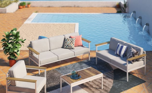 pablo outdoor patio set by pool