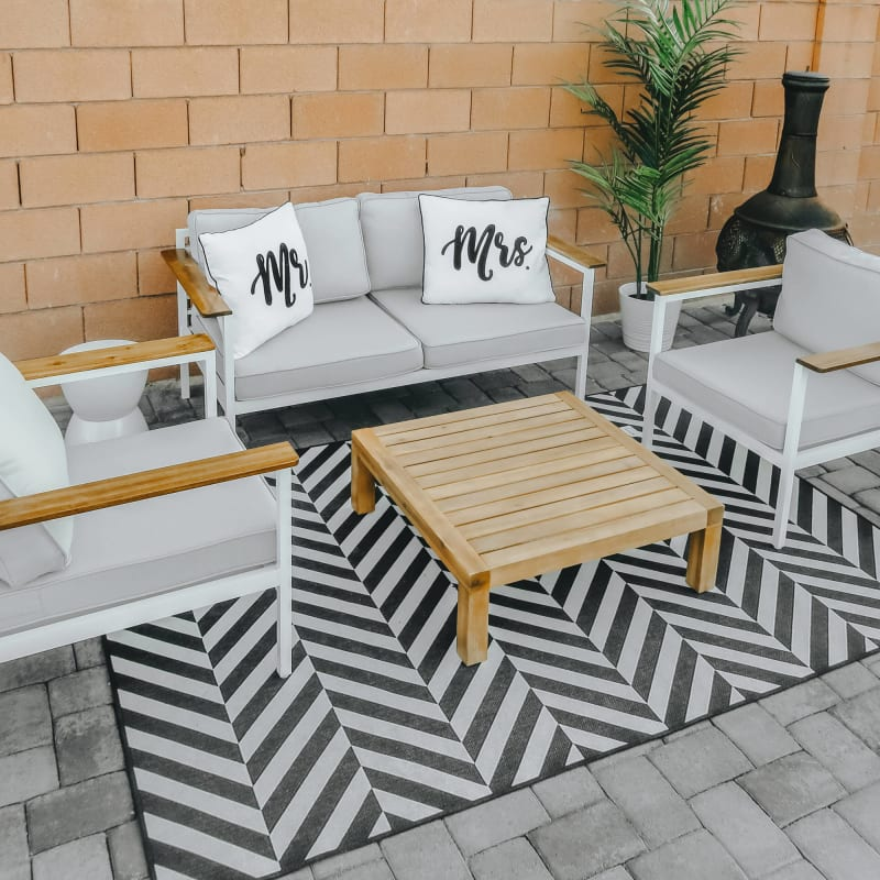 pablo outdoor loveseat and arm chairs