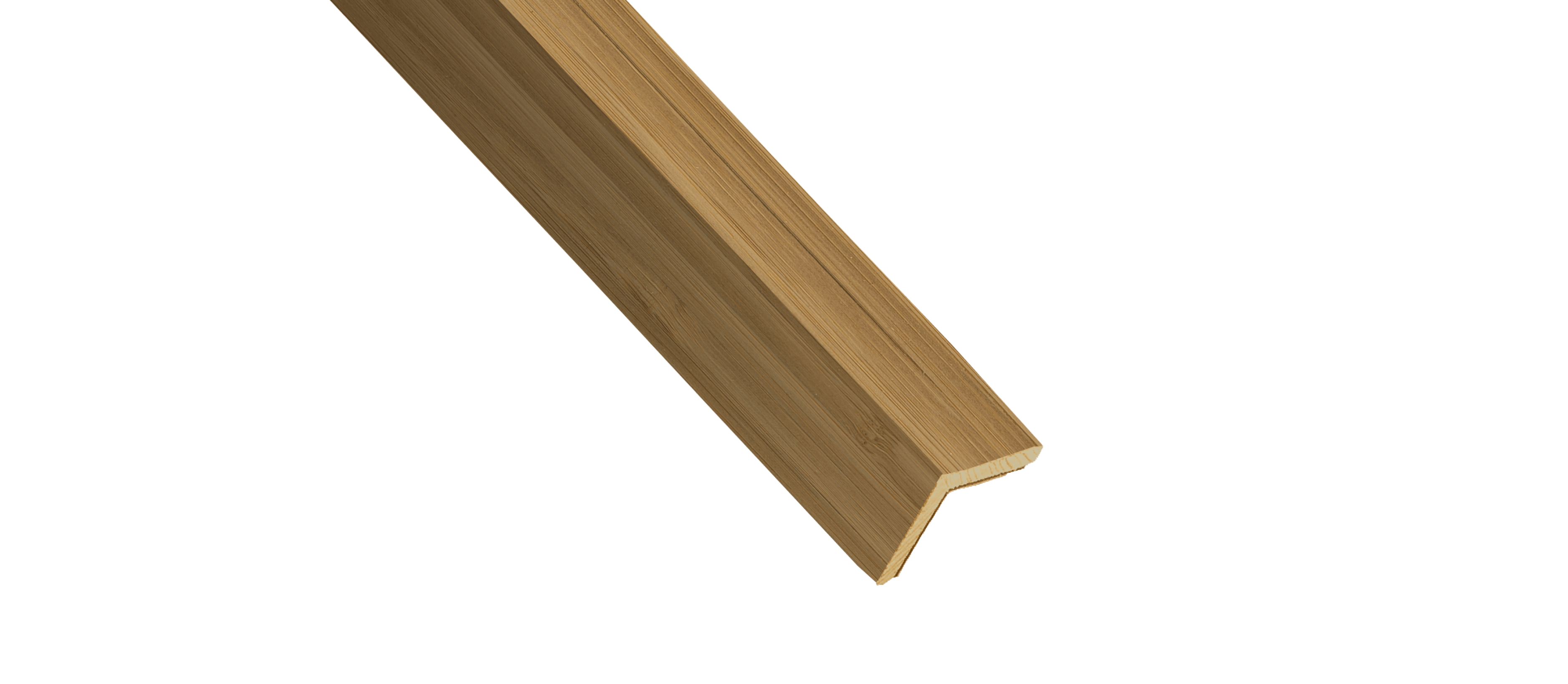 Vertical Caramelized Bamboo Wood Corner Trim Sample