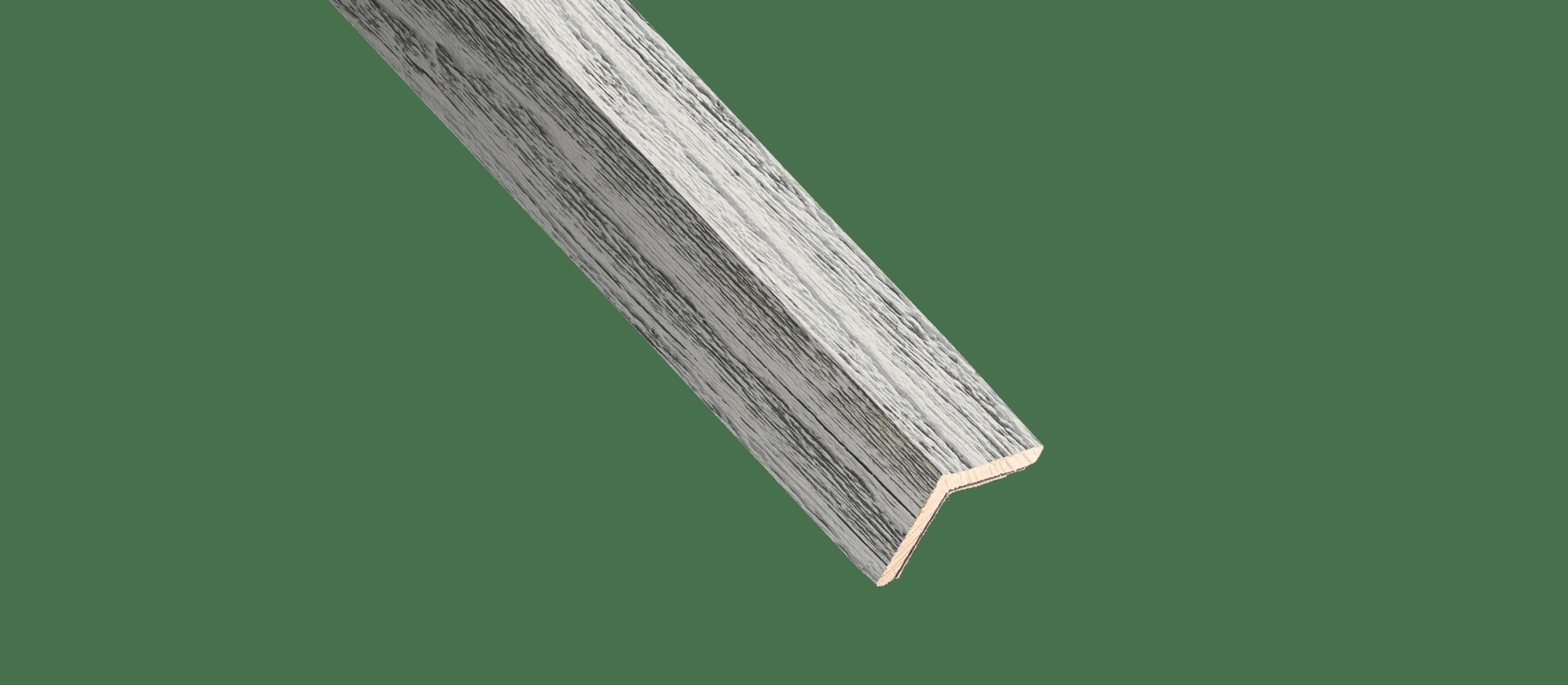 Reclaimed Weathered Wood White Wood Corner Trim Sample