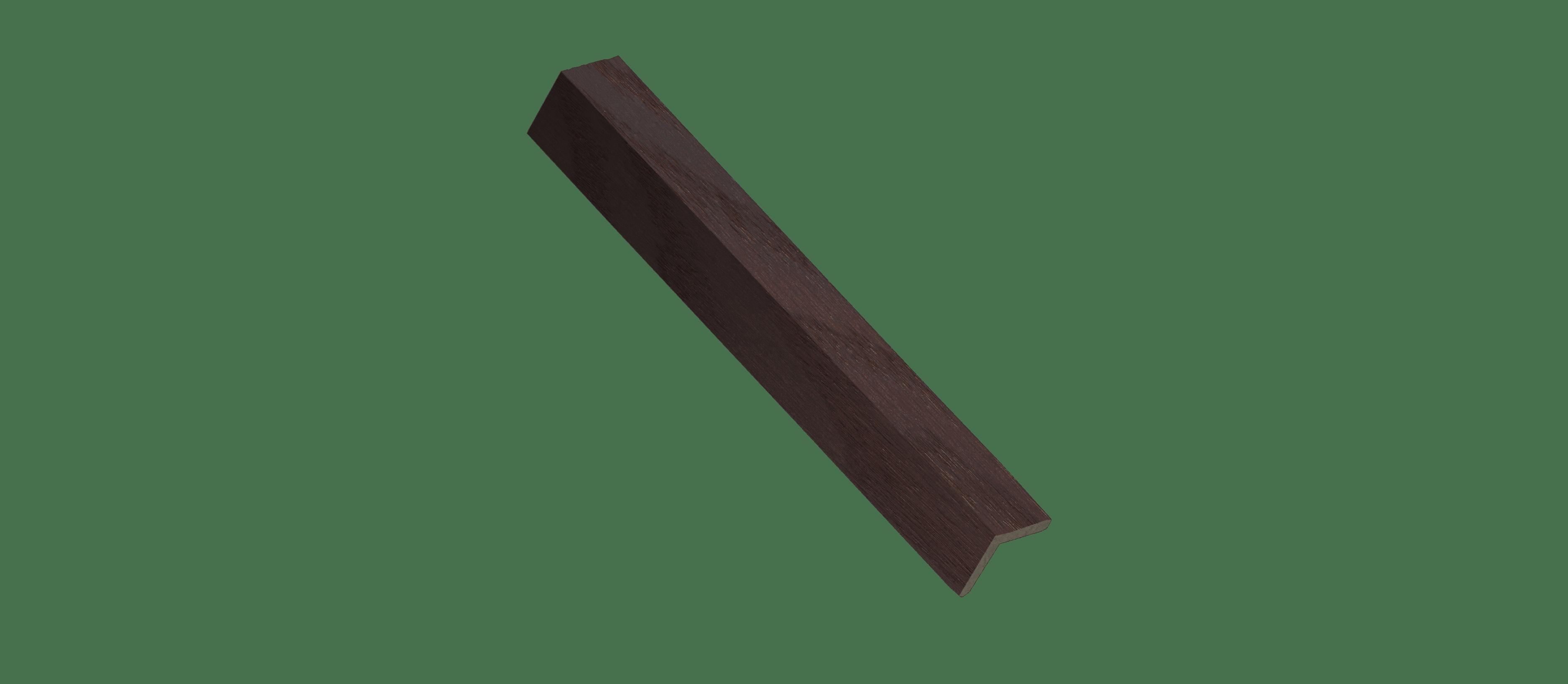 Black Cherry Wood Corner Trim Sample
