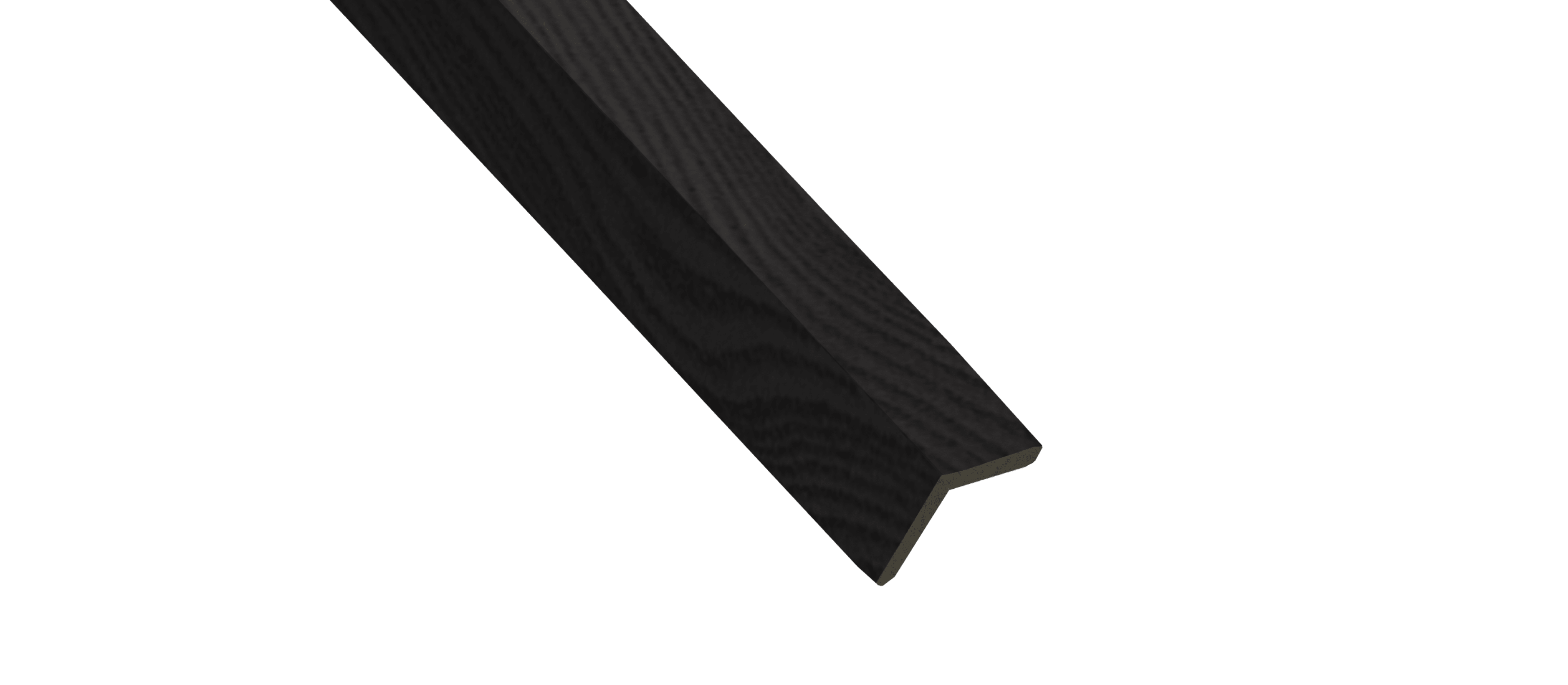 Charcoal Wood Corner Trim Sample