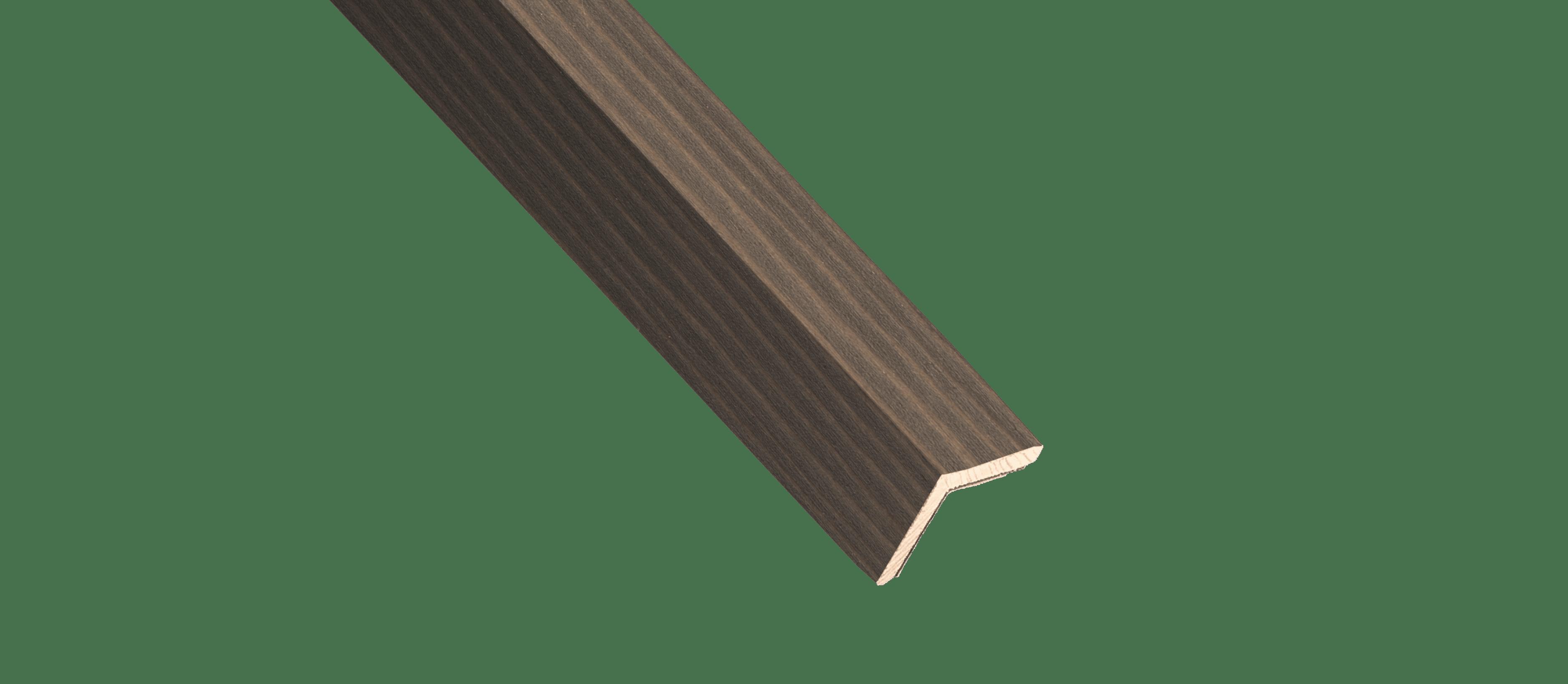 Vertical Grain Mountain Moss Wood Corner Trim Sample