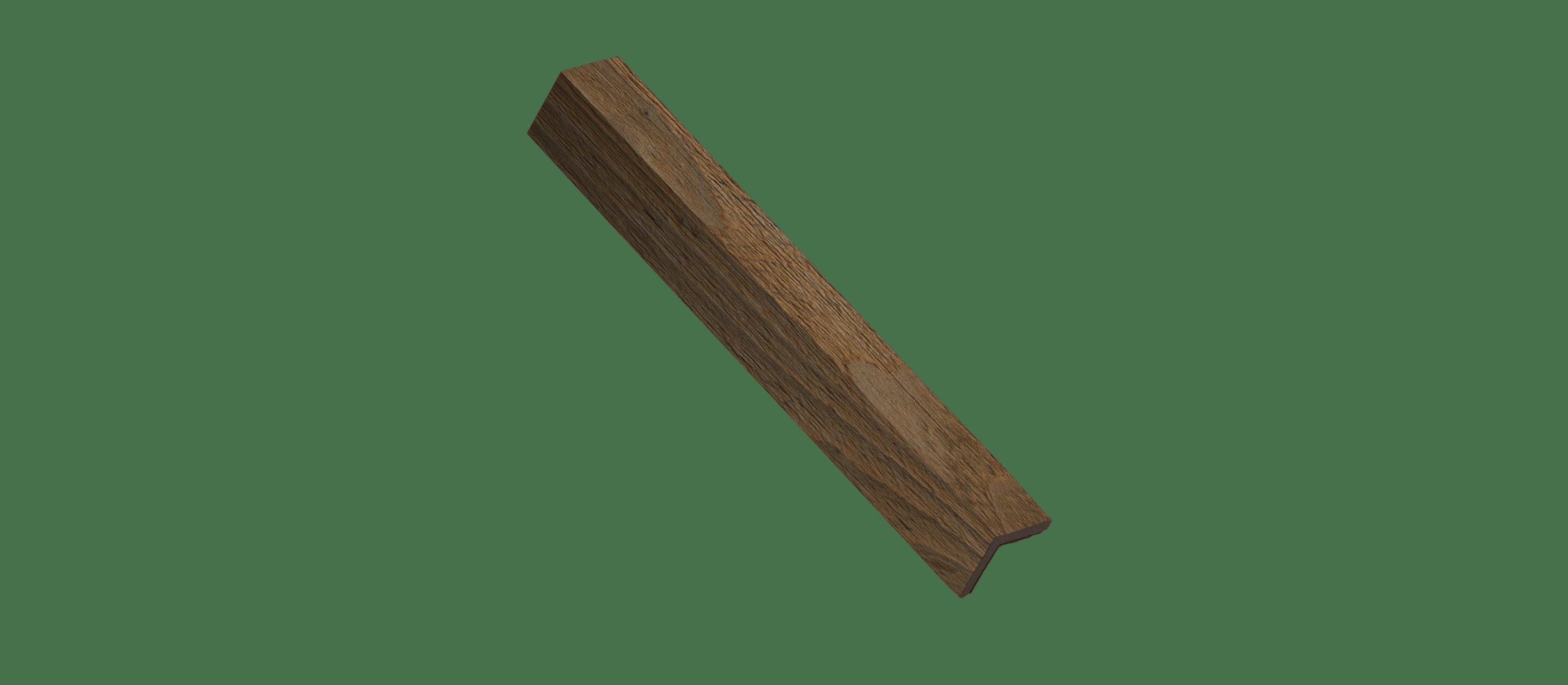 Reclaimed Sierra Silver Wood Corner Trim Sample