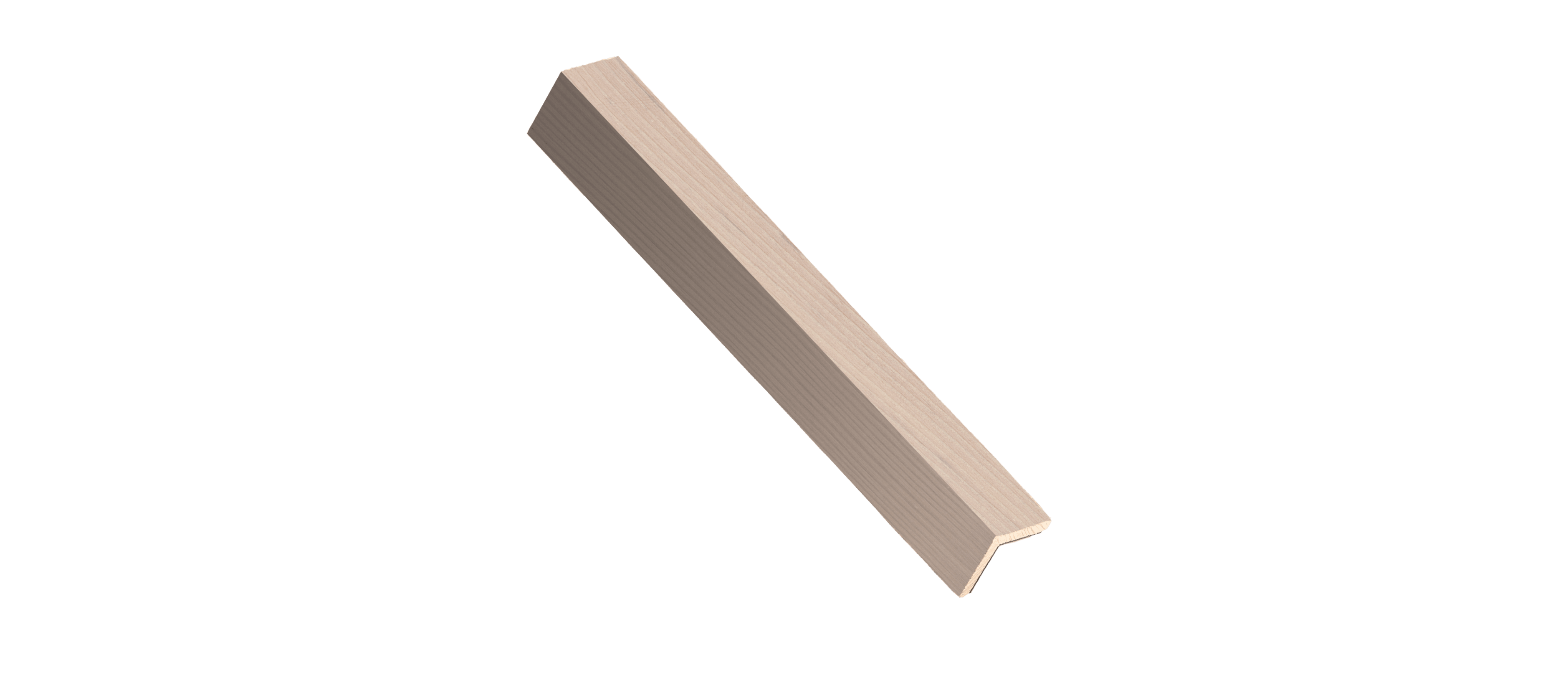 Minimalist Fir Wood Corner Trim Sample