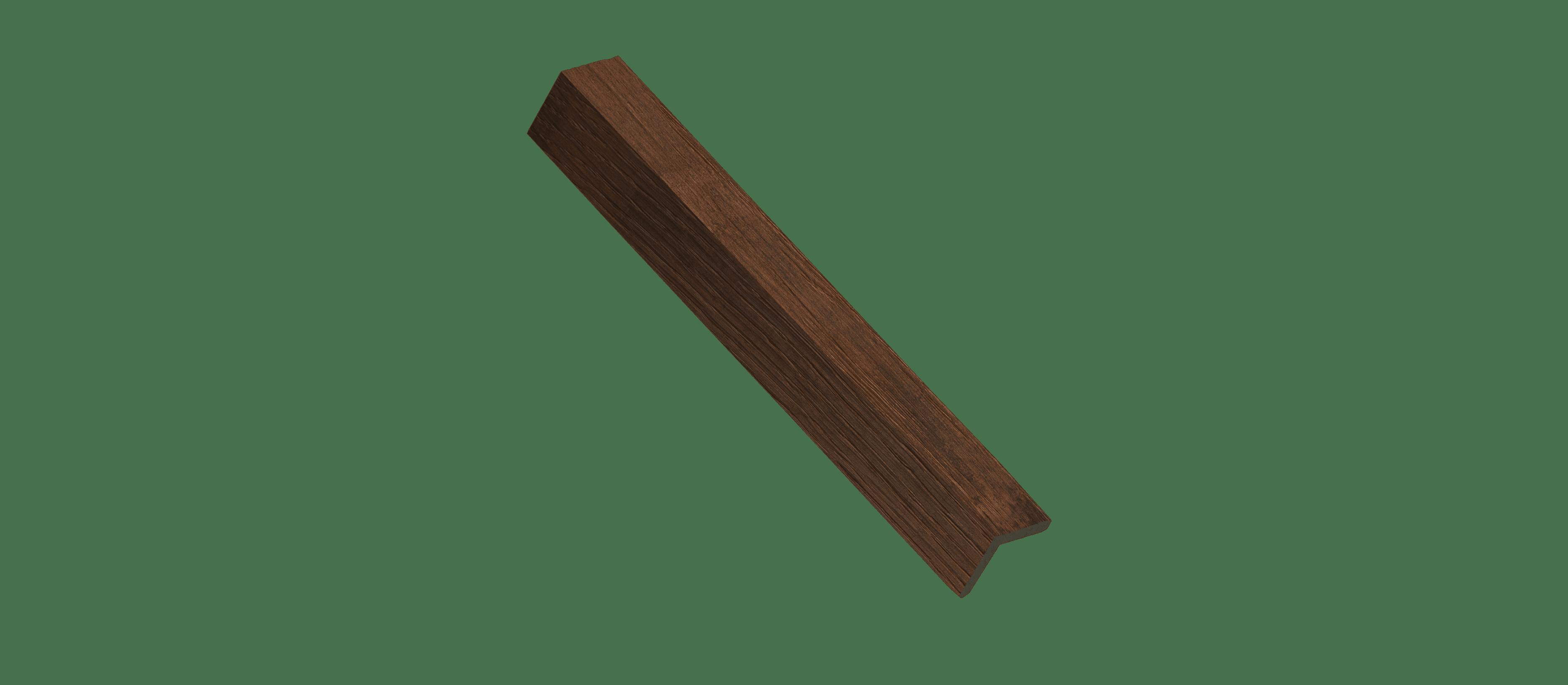 Reclaimed Barrel Oak Wood Corner Trim Sample