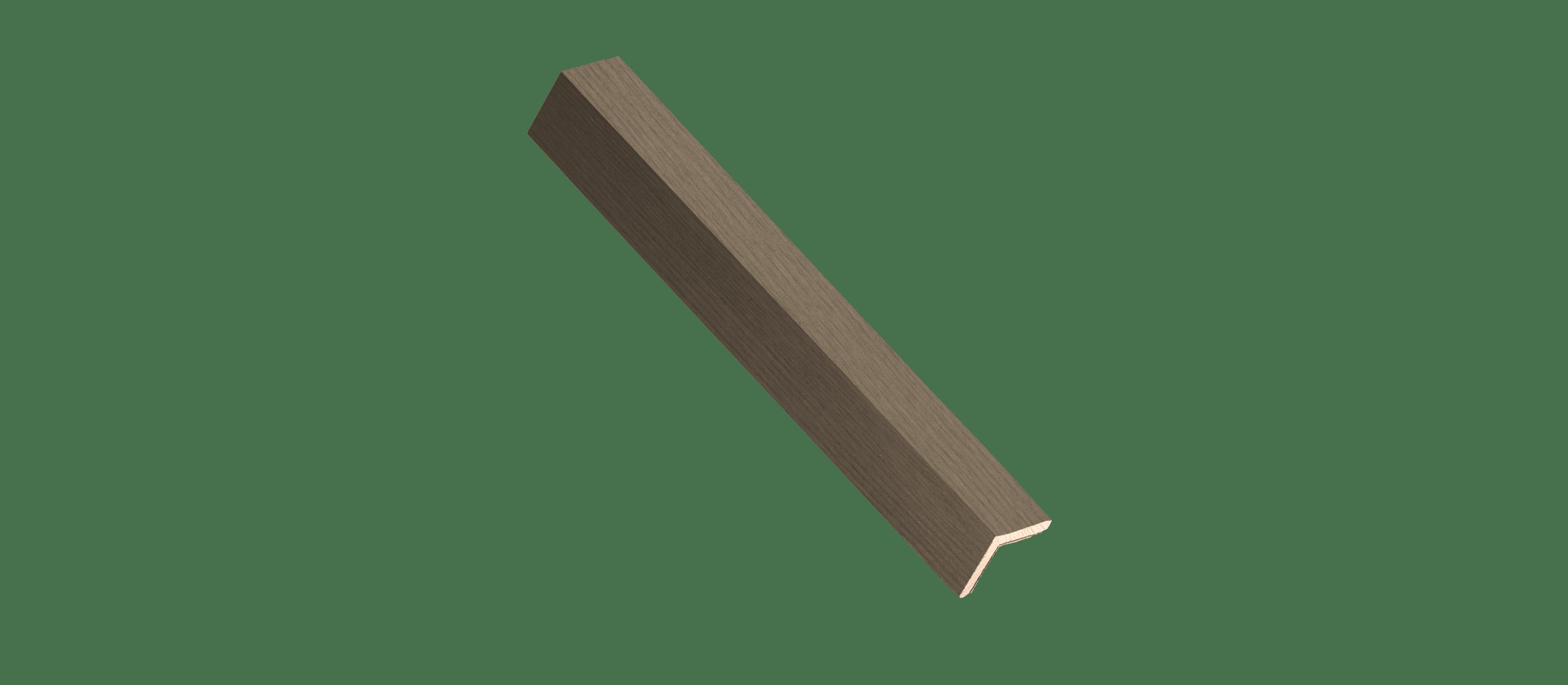 Vertical Grain Rustic Slate Wood Corner Trim Sample