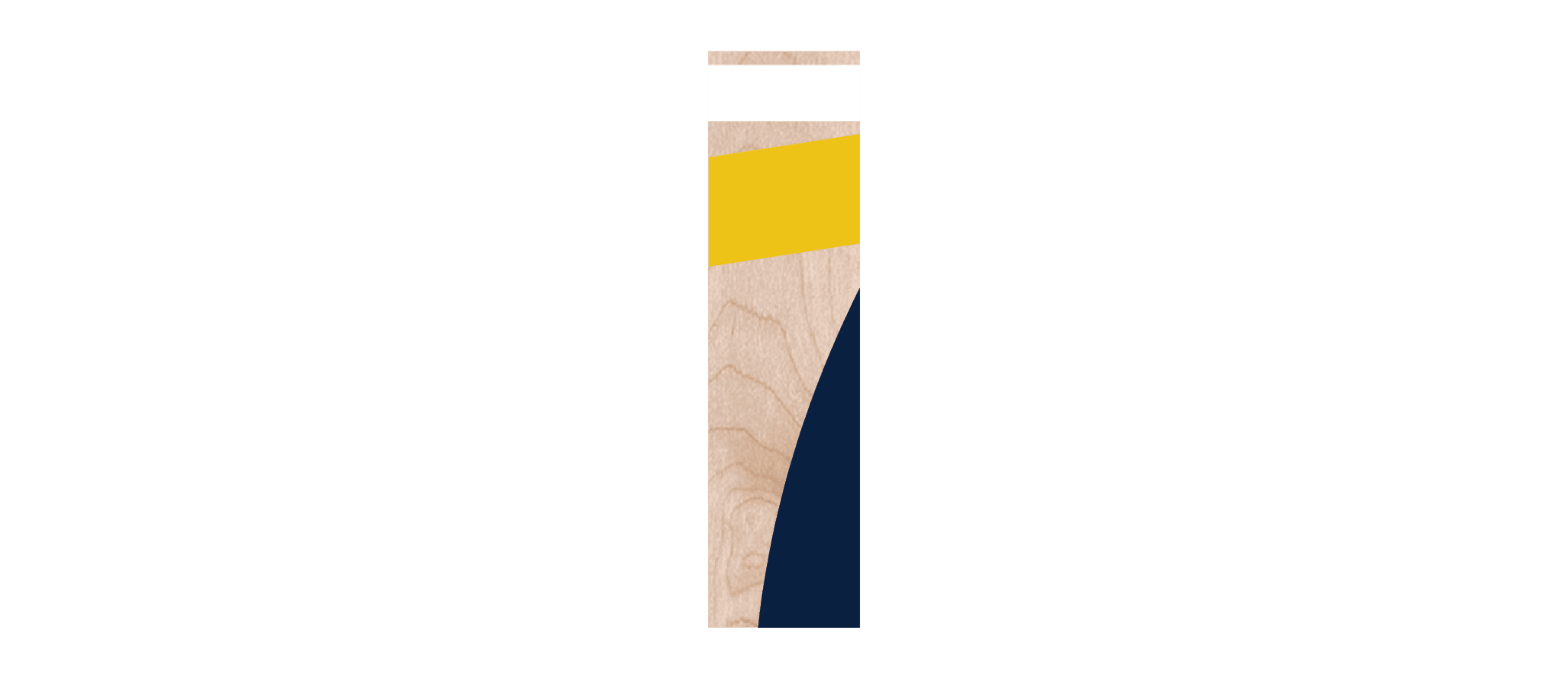 Sample of fanwall custom sports wall maple peel and stick wood wall planks for University of Michigan fans' man caves.
