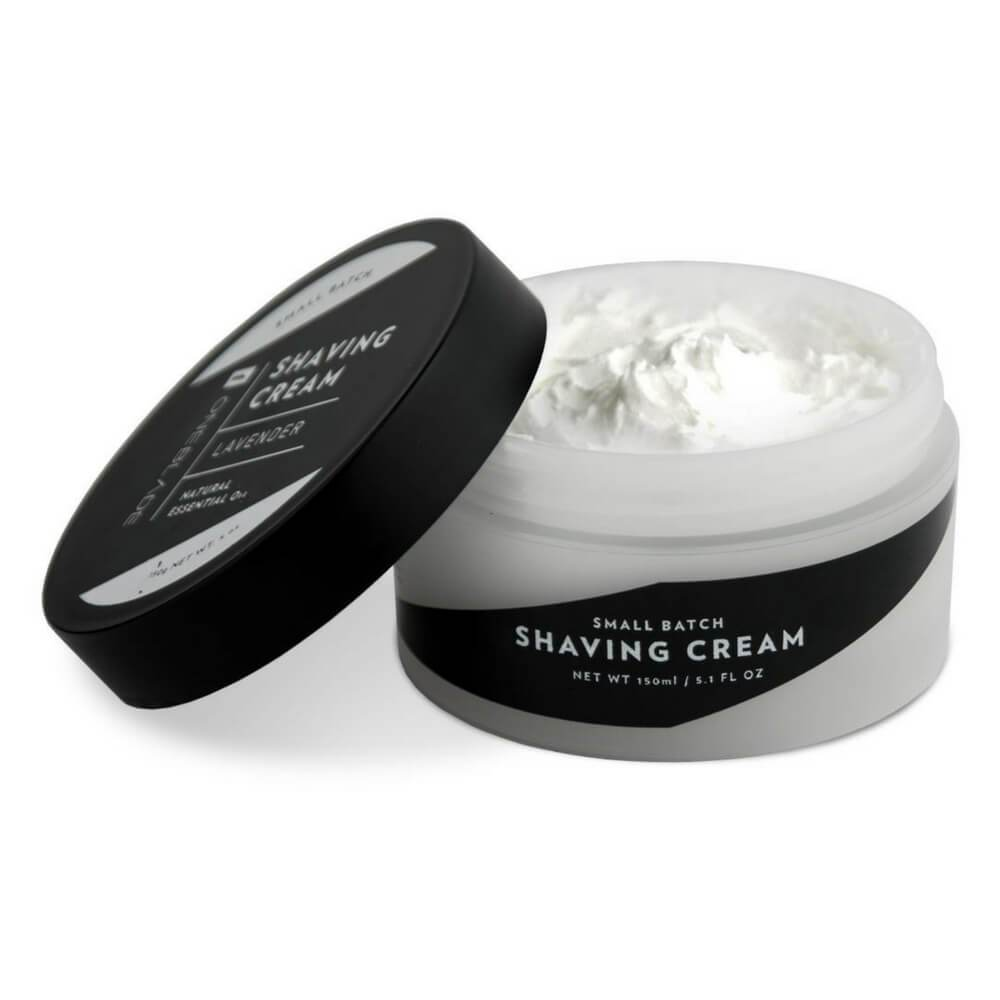 OneBlade Black Tie Shaving Cream with lid off