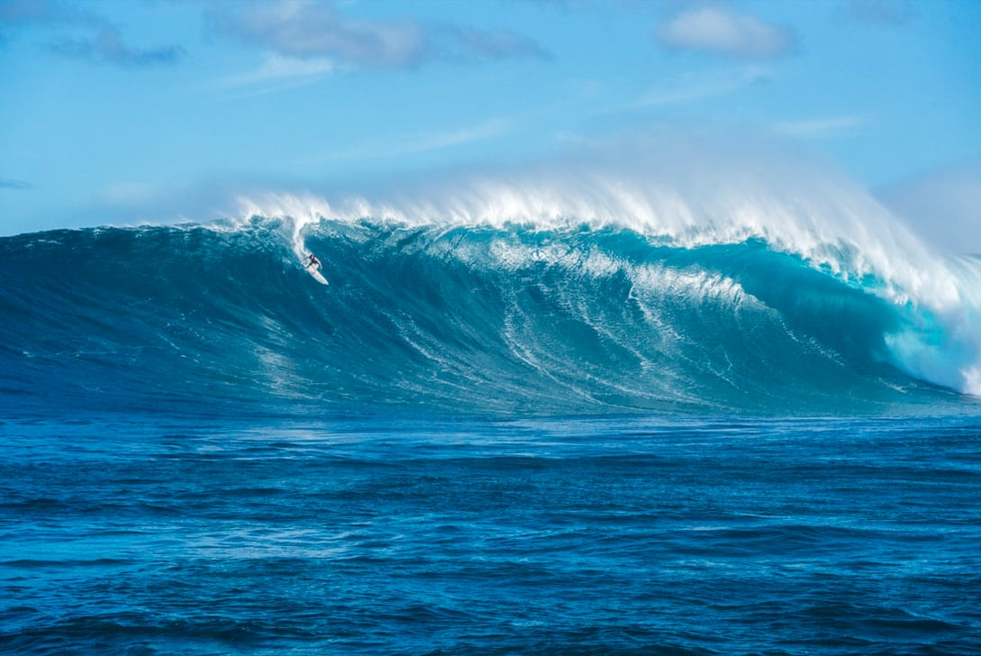 Matt Bromley surfing in Hawaii