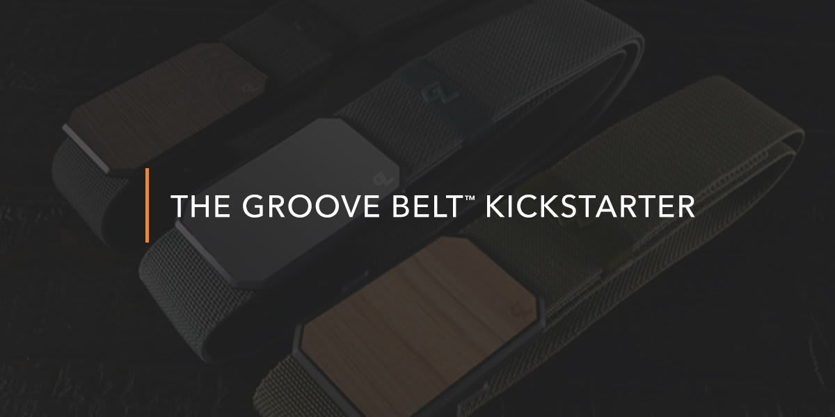 Close up on Groove Belt buckles
