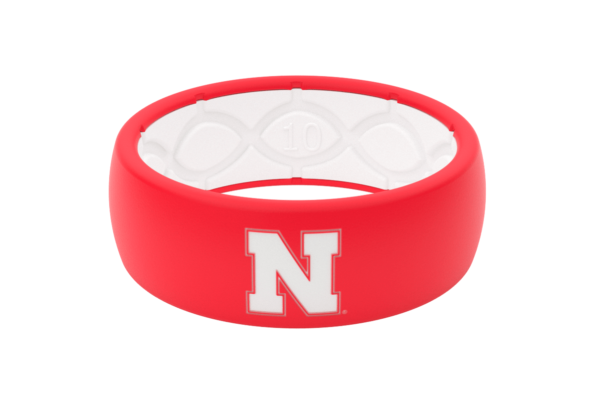 Original College Nebraska - Groove Life Silicone Wedding Rings