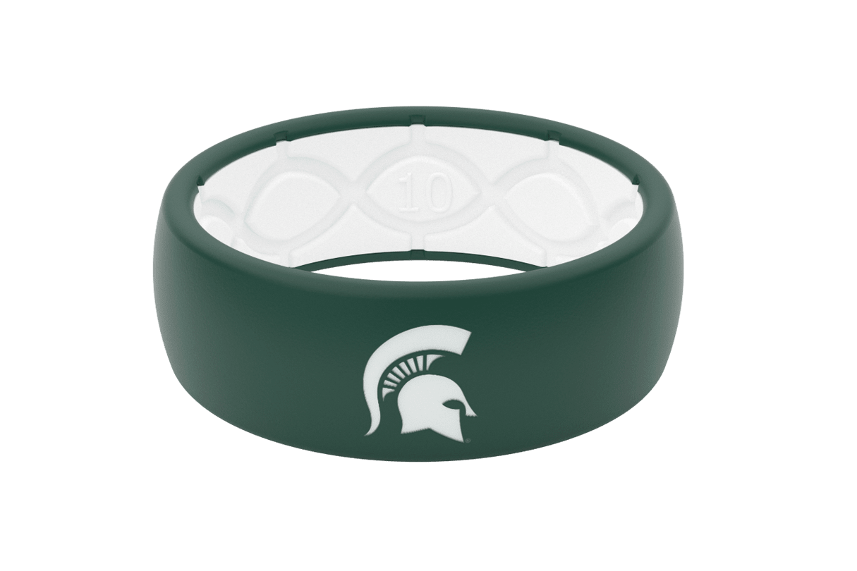 Michigan State Silicone Ring  viewed front on
