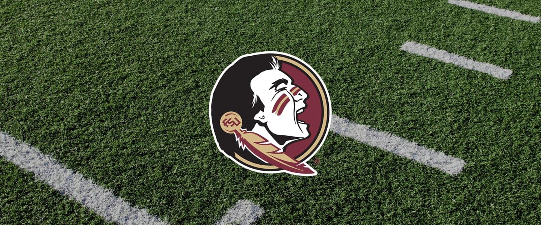 Florida State logo on football field