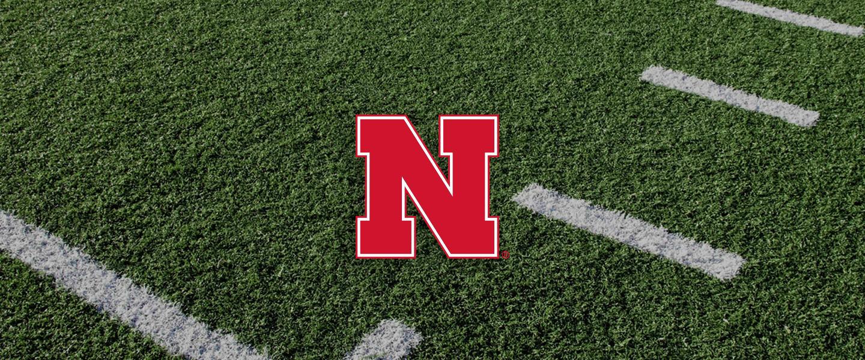 Nebraska logo on football field