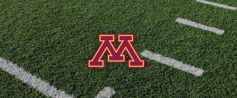Minnesota logo on football field