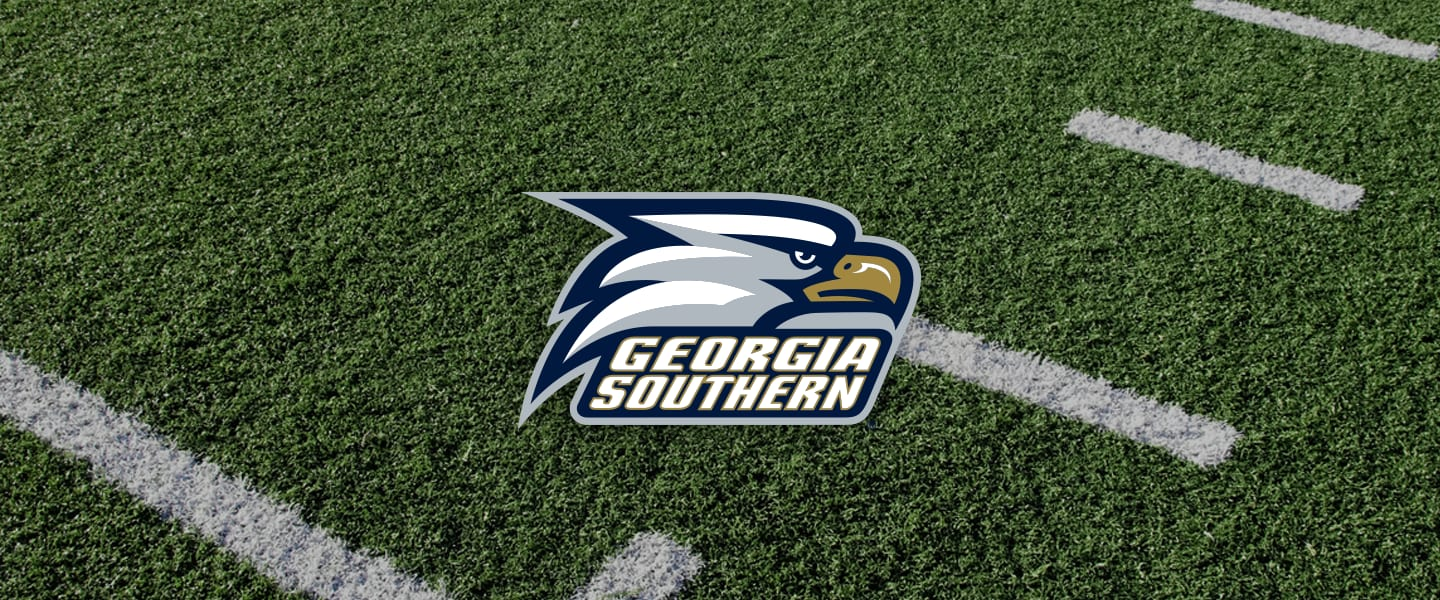 Georgia Southern logo on football field