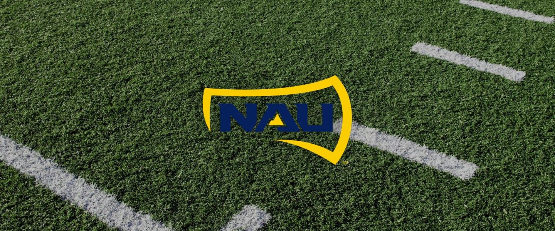 Northern Arizona logo on football field