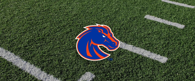 Boise State logo on football field